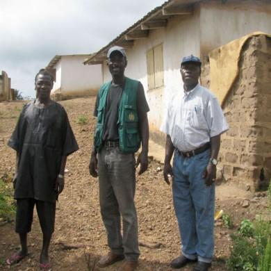 Phillip, Ghana museum staff with local informants - Fomena