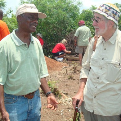 Field Director and Prof. Merrick Posnansky during Historic Kormantse excavation