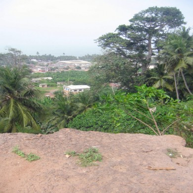 Kormantse (Lower Town) looking down from Historic Kormantse