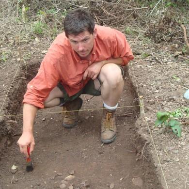 Tom Becker - excavating Area 1